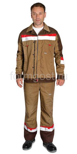 """Куртка """"Флагман"""", беж. + коричн."""