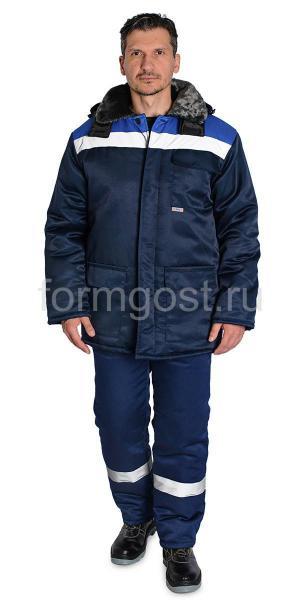 """Куртка """"Труд М"""" утепл., син. + вас."""