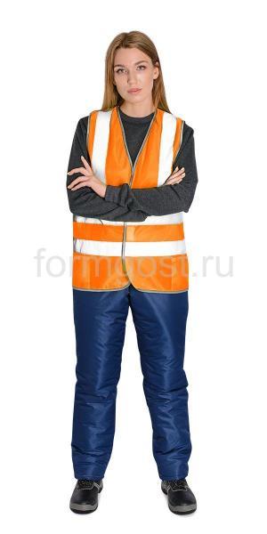 Жилет сигнальный ТИП-1Э оранжевый с карманами